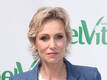Jane Lynch hands out breakfast bars...