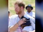 Prince Harry reunites with friend in Lesotho