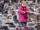 Shoes put in Paris square before climate meeting