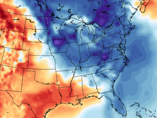 Arctic air is taking over the East
