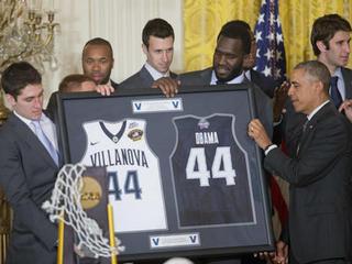 Villanova visits the White House
