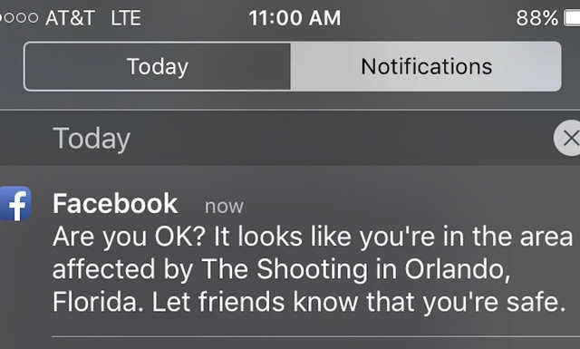 Facebook Launches Safety Check For Orlando Shooting