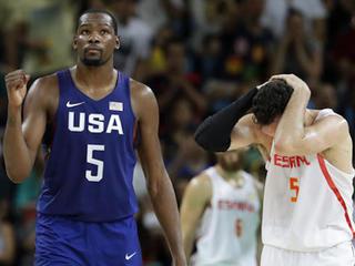 US beats Spain in men's basketball