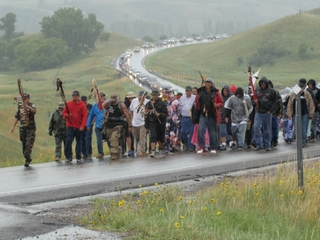 American Indians protest pipeline project