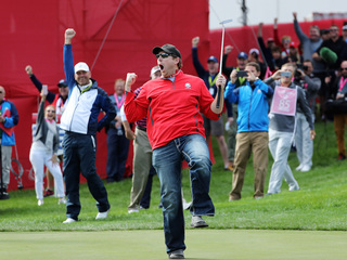 Golf heckler wins $100 off pro at Ryder Cup