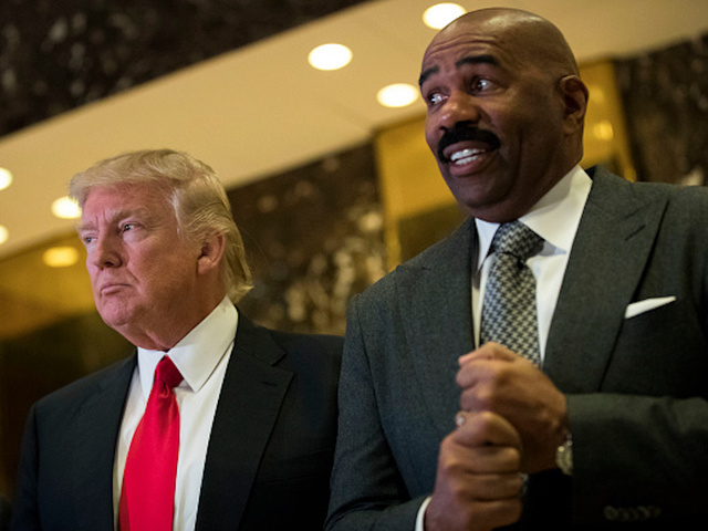 Steve Harvey Meets With Trump, Talks About Housing Issues