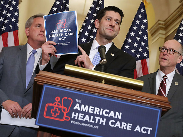 Image result for Republicans delay vote on bill to replace Obamacare