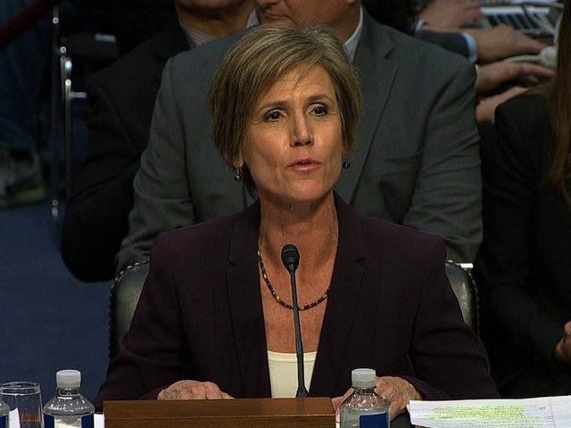 Yates dubs Trump's first travel ban as 'unlawful'