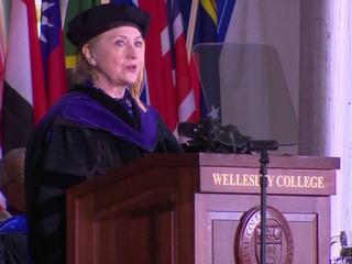 Hillary Clinton rips Trump at graduation speech
