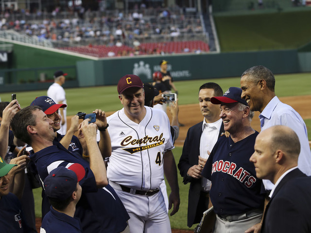Rep. Steve Scalise among several shot at congressional baseball practice