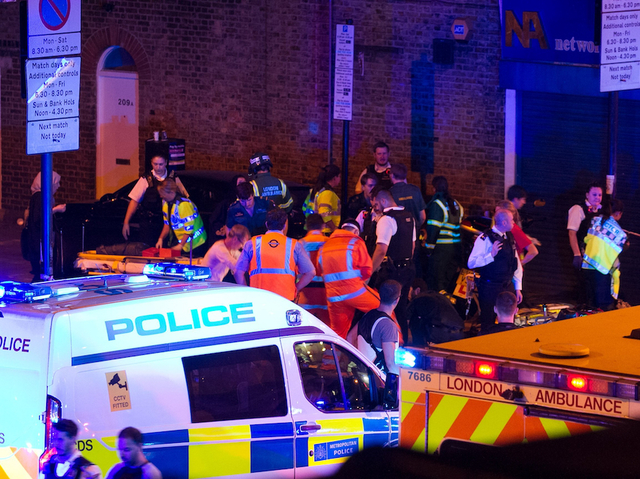 Several injured in London after reports of vehicle ramming pedestrians