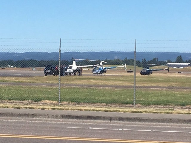 Police Take Down Armed Suspect Trying to Steal Helicopter From Oregon Airport
