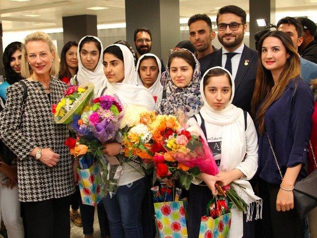 Afghan Girls Robotics Team Land In US After Visa U-Turn
