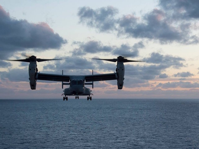 Defense Ministry tolerates U.S.  resumption of Osprey flights
