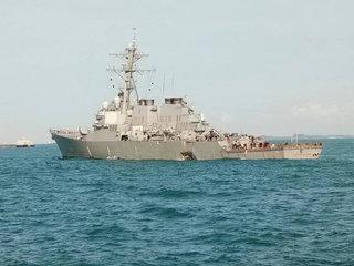 10 missing after Navy destroyer collision
