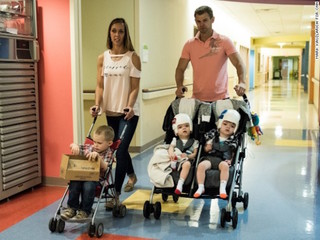 Formerly conjoined McDonald twins head home