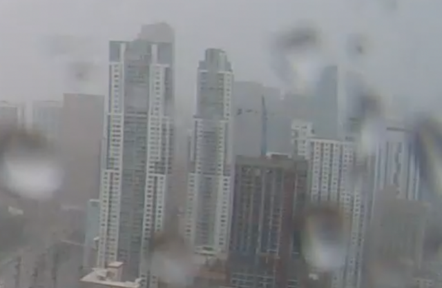 Cranes Atop High-Rises Collapse as Irma Lashes Miami