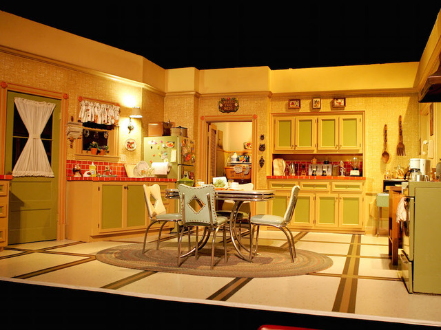 Santa monica ca april 28 interior of one of the everybody loves raymond sets is seen at the everybody loves raymond series wrap party at hanger 8 on
