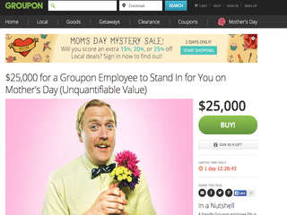 Busy on Mother's Day? Groupon offers 'stand-in'
