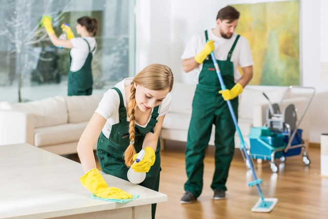 picture of someone cleaning