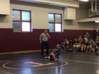 2-year-old 'saves' sister in wrestling match