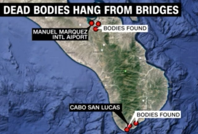 Six Bodies Found Hanged From Bridges Near Mexican Tourist