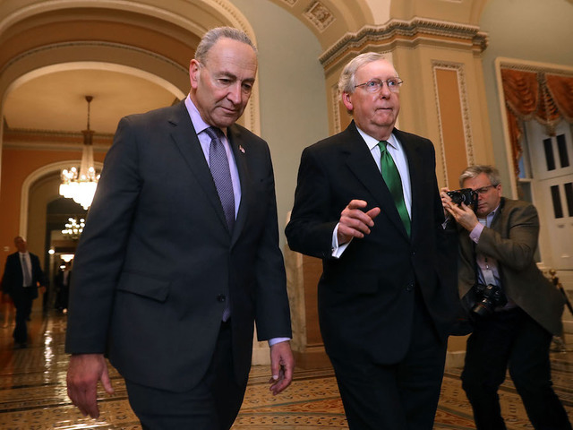 Long-Term Budget Deal Announced By Senate Leaders Averting Government Shutdown