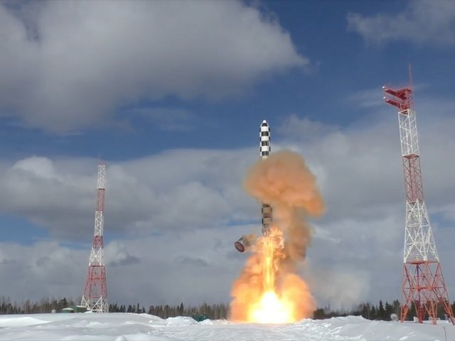 Russian Federation  test-launches new 'Satan 2' ballistic missile