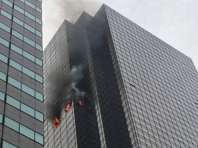 Fire at Trump Tower leaves one person seriously injured