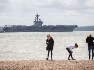 US sailor killed in accident aboard carrier